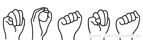 Moana im Fingeralphabet der Deutschen Gebärdensprache