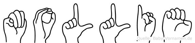 Mollie in Fingersprache für Gehörlose