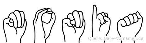 Monia in Fingersprache für Gehörlose