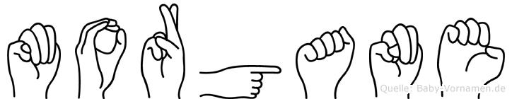 Morgane im Fingeralphabet der Deutschen Gebärdensprache