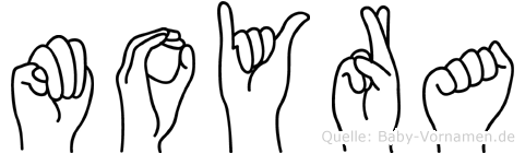 Moyra im Fingeralphabet der Deutschen Gebärdensprache