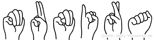 Munira in Fingersprache für Gehörlose