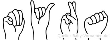 Myra in Fingersprache für Gehörlose