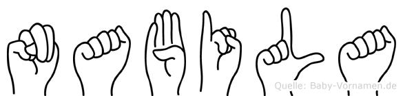 Nabila in Fingersprache für Gehörlose