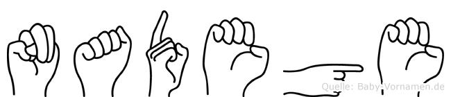Nadege in Fingersprache für Gehörlose
