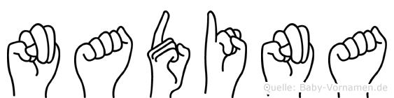 Nadina im Fingeralphabet der Deutschen Gebärdensprache