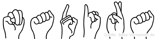 Nadira in Fingersprache für Gehörlose