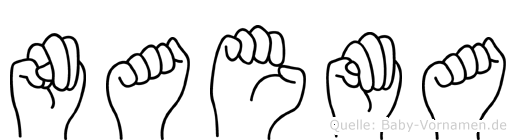 Naema im Fingeralphabet der Deutschen Gebärdensprache