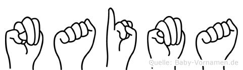 Naima im Fingeralphabet der Deutschen Gebärdensprache