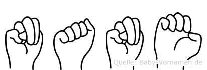 Nane in Fingersprache für Gehörlose