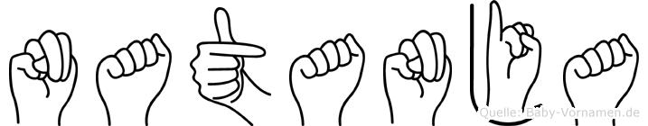 Natanja in Fingersprache für Gehörlose