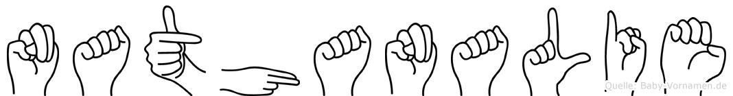 Nathanalie im Fingeralphabet der Deutschen Gebärdensprache