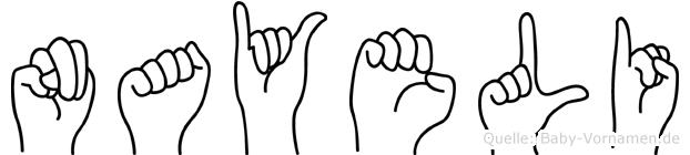 Nayeli in Fingersprache für Gehörlose