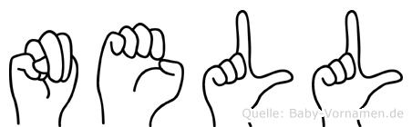 Nell im Fingeralphabet der Deutschen Gebärdensprache