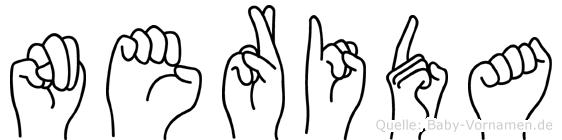 Nerida in Fingersprache für Gehörlose