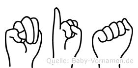 Nia im Fingeralphabet der Deutschen Gebärdensprache