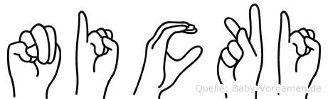 Nicki im Fingeralphabet der Deutschen Gebärdensprache
