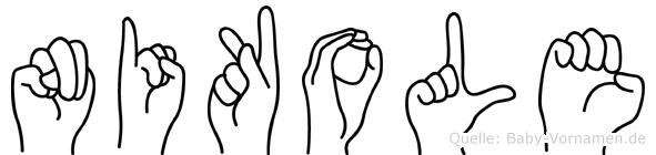Nikole in Fingersprache für Gehörlose