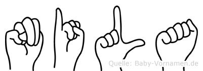 Nila in Fingersprache für Gehörlose