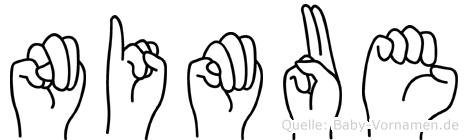 Nimue in Fingersprache für Gehörlose