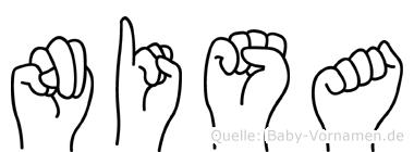 Nisa im Fingeralphabet der Deutschen Gebärdensprache