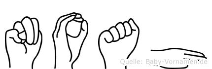 Noah in Fingersprache für Gehörlose