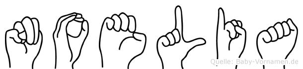 Noelia im Fingeralphabet der Deutschen Gebärdensprache