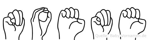 Noeme in Fingersprache für Gehörlose