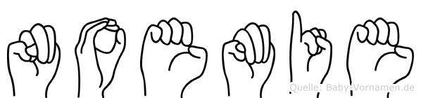 Noemie im Fingeralphabet der Deutschen Gebärdensprache