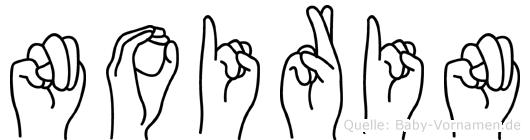 Noirin in Fingersprache für Gehörlose