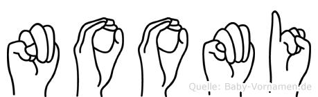 Noomi im Fingeralphabet der Deutschen Gebärdensprache