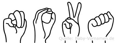 Nova in Fingersprache für Gehörlose