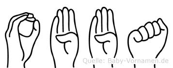 Obba im Fingeralphabet der Deutschen Gebärdensprache