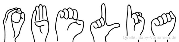 Obelia im Fingeralphabet der Deutschen Gebärdensprache