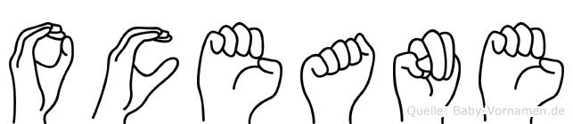 Oceane in Fingersprache für Gehörlose
