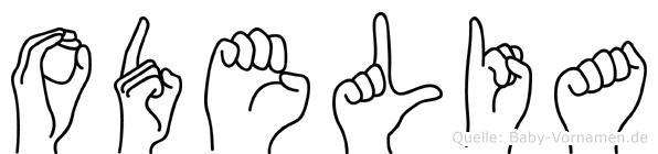 Odelia im Fingeralphabet der Deutschen Gebärdensprache
