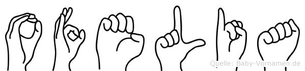 Ofelia im Fingeralphabet der Deutschen Gebärdensprache
