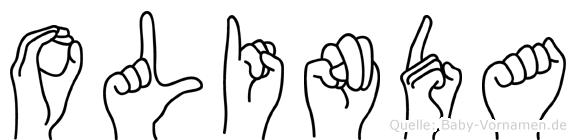 Olinda im Fingeralphabet der Deutschen Gebärdensprache