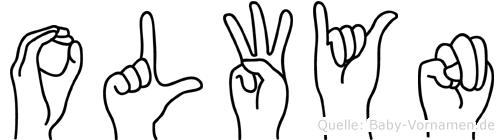 Olwyn im Fingeralphabet der Deutschen Gebärdensprache