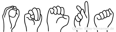 Oneka in Fingersprache für Gehörlose