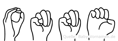 Onne in Fingersprache für Gehörlose