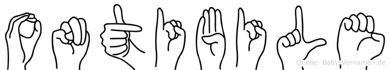 Ontibile in Fingersprache für Gehörlose
