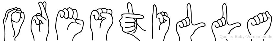 Orestilla in Fingersprache für Gehörlose