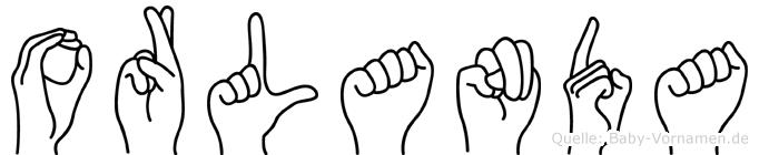 Orlanda in Fingersprache für Gehörlose