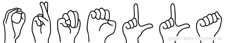 Ornella in Fingersprache für Gehörlose
