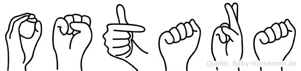 Ostara in Fingersprache für Gehörlose