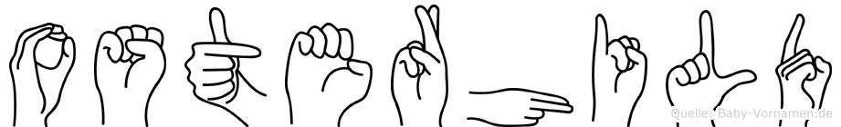 Osterhild im Fingeralphabet der Deutschen Gebärdensprache