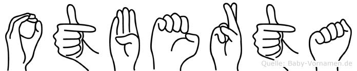 Otberta im Fingeralphabet der Deutschen Gebärdensprache
