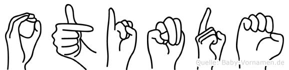Otinde im Fingeralphabet der Deutschen Gebärdensprache