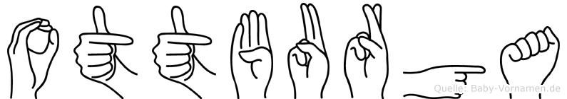 Ottburga im Fingeralphabet der Deutschen Gebärdensprache